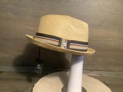 Brixton  Mens Castor Casual Straw Fedora Hat TAN Size  XL NE