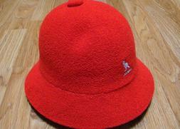 Mens Classic Kangol Bermuda Casual Bucket Cap Color  Scarlet