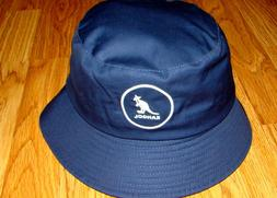 Mens Classic Kangol Cotton Bucket Hat Color  Navy