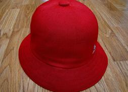 Mens Classic Kangol Tropic Casual Bucket Cap Color  Red