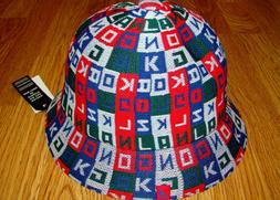 Mens Kangol Colour Cube Casual Bucket Hat Color Scarlet Red