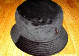 Mens Kangol Cord Bucket Hat Color Black