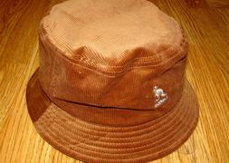 Mens Kangol Cord Bucket Hat Color Wood