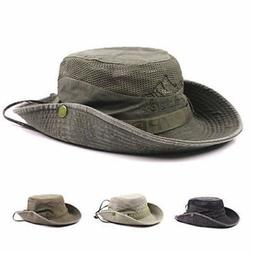 Mens Cotton Embroidery Bucket Fisherman Hat Outdoor Climbing