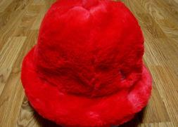 Mens Kangol  Faux Fur  Casual  Bucket  Hat  Color  Scarlet