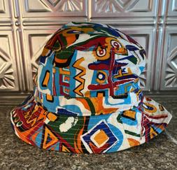 mens graffiti bucket hat one size excellent