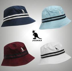 mens logo stripe bucket hat cotton headwear