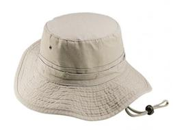 Dorfman Pacific Mens Pigment Dyed Twill Bucket Hat S M Off-W