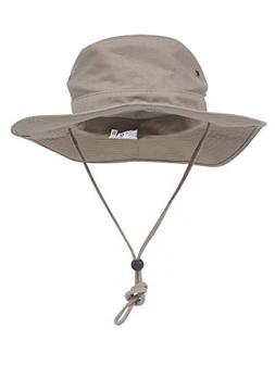 MG Mens Brushed Cotton Twill Aussie Side Snap Chin Cord Hat