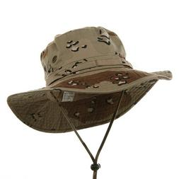 MG Men's Washed Cotton Twill Chin Cord Hunting Hat