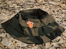 MIAMI HEAT NEW ERA AUTHENTIC NBA CAMO BUCKET HAT CAP SIZE L