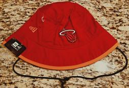 MIAMI HEAT NEW ERA AUTHENTIC NBA TIPPED BUCKET HAT CAP SIZE