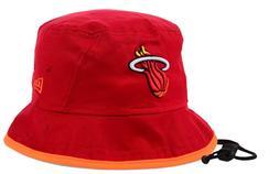 MIAMI HEAT New Era Basic Tipped Bucket Cap Hat $30 Red Orang