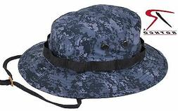 Midnight Blue Digital Camo Boonie Hat - Dark Navy & Black Ca