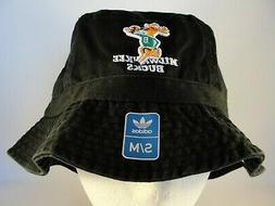 Milwaukee Bucks NBA Adidas Throwback Logo Bucket Hat Size S/