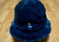 KANGOL  Navy  Faux Fur Casual Bucket Hat