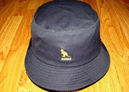 Navy  KANGOL  Washed   Bucket  Hat  Style K4224HT