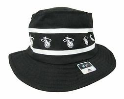 Adidas NBA Miami Heat Size Small Bucket Hat Black And White