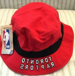 NBA Toronto Raptors Adidas Men's Red/Black Bucket Hat Size