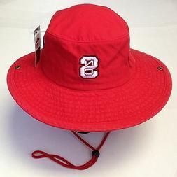 NCAA North Carolina State Adidas Mens Cotton Safari Bucket F