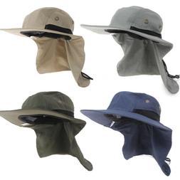 Neck Flap Boonie Hat Fishing Hiking Safari Outdoor Sun Brim