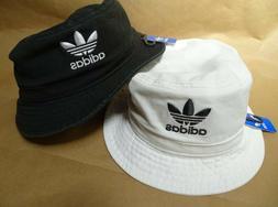 NEW adidas Trefoil Logo Bucket Hat Black/White Unisex CL5193