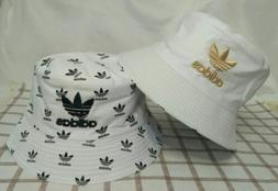 New Adidas White Bucket Hat Reversible Cap Beach Casual Styl