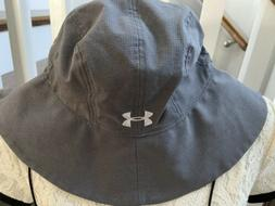 NEW Under Armour Armour Vent Warrior Bucket Hat Gray Tactica