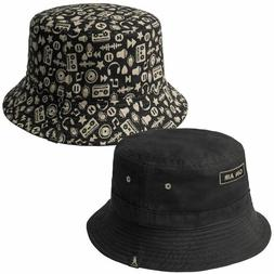 New Authentic Kangol Bucket Hat On Air Reversible Black NWT