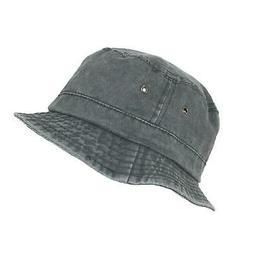 New Dorfman Pacific Black Cotton Stone Washed Summer Bucket