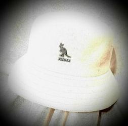 NEW! KANGOL BUCKET HAT WOOLMARK BLEND/FELT WHITE BEIGE. 50%