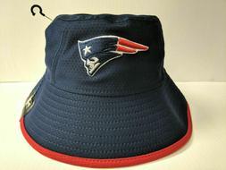 New England Patriots New Era Cap Navy Hex Team Bucket Hat St