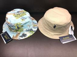 NEW POLO RALPH LAUREN LANDSCAPE BUCKET HAT FISHING CAP REVER