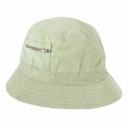 New CTM Men's Corduroy Bucket Hat with Zippered Pocket
