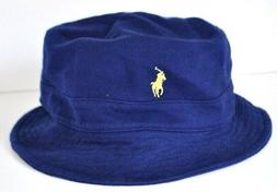 NEW POLO RALPH LAUREN Mesh COTTON KNIT Mens Bucket HAT Pony