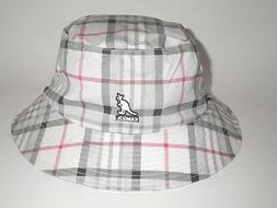 NEW Kangol RIO HONDO BUCKET Hat White Plaid S/M  Cap Flexfit