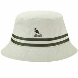 NEW Kangol Stripe Lahinch Cotton Flat Bucket Hat US S M L XL