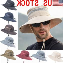 NEW Summer Mens Sun Hat Bucket Fishing Hiking Cap Wide Brim