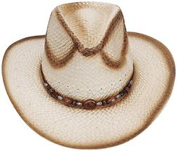 new western style classic cowboy straw hat