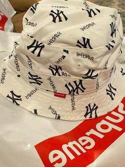 Supreme New York Yankees Crusher Bucket Hat Box Logo Camp Ca