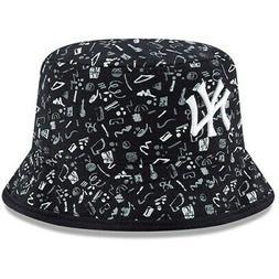 New York Yankees New Era Infant Pattern Bucket Hat - Navy