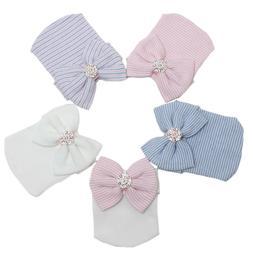 Newborn Baby Girls Hats Infant Nursery Beanie Hospital With