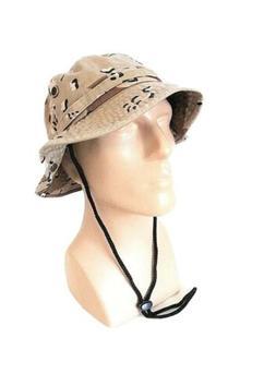 Newhattan Bucket Hat Desert Camo Design L/XL Summer Sun Hat