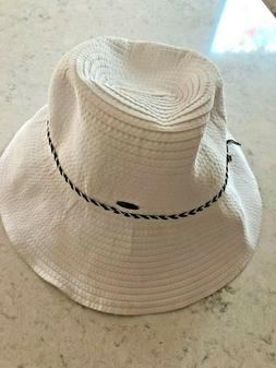 COOLIBAR NWOT WHITE RIBBON HAT