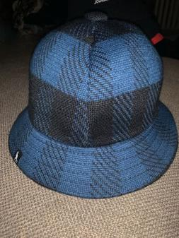 NWT Men's KANGOL Frontier CASUAL Bucket Hat Sz XL Blue Bla