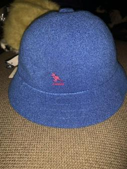 NWT Men's Sample Kangol BERMUDA CASUAL Bucket Hat Blue Pin