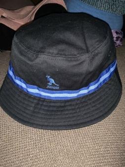 NWT Men's Sample Kangol Stripe  Bucket Hat Black Blue Sz S