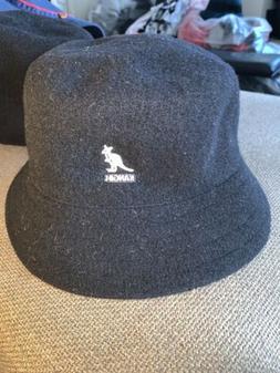 NWT Men's Sample KANGOL Wool LAHINCH Bucket Hat Sz L Black