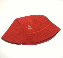 NWT Vintage Kangol Bucket Hat Size LARGE RED
