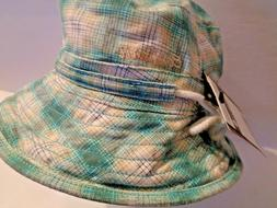NWT Carhartt Women's Hamtramck Bucket Hat Mint Plaid Cotton